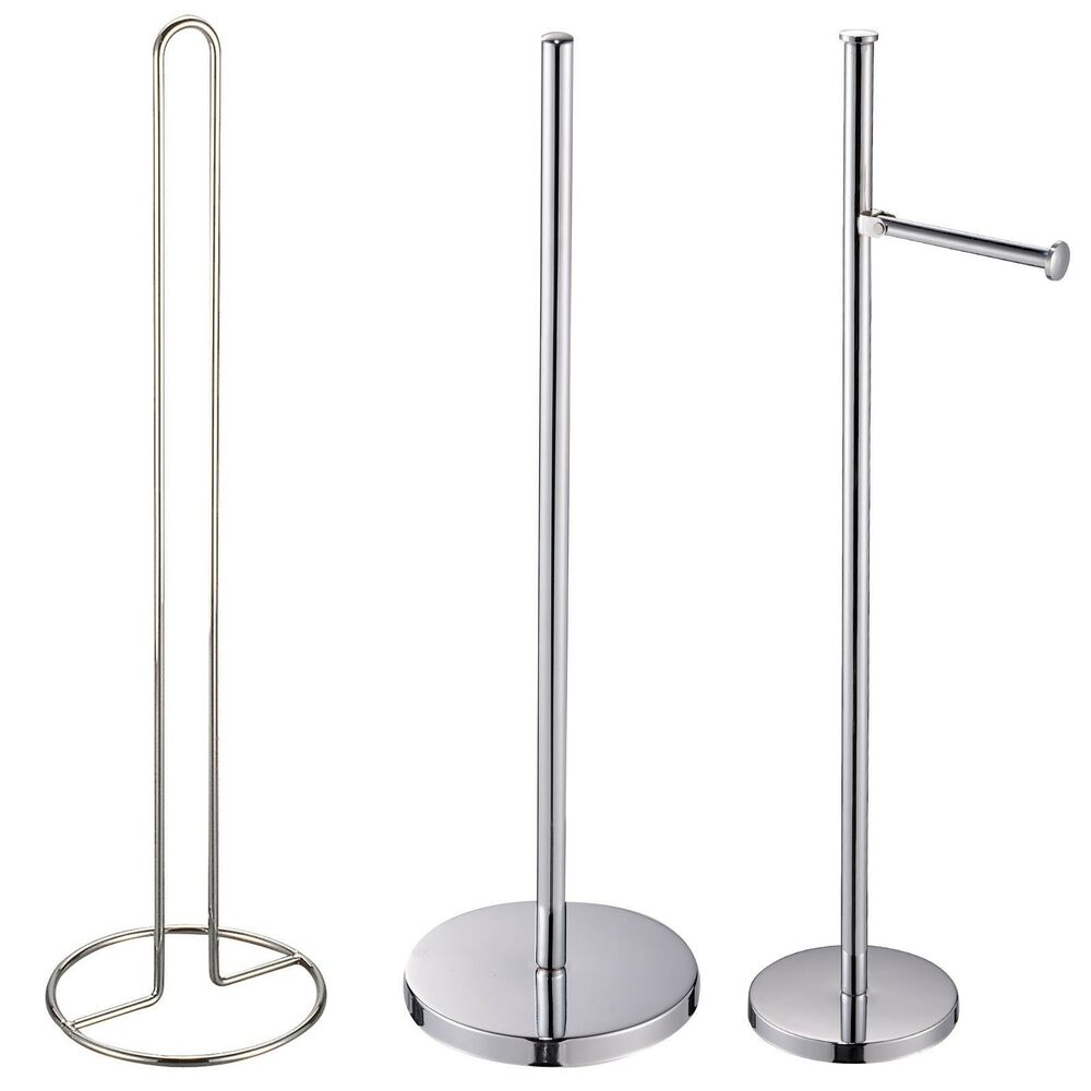 Free standing spare toilet roll holders stands spikes Toilet paper holder free standing