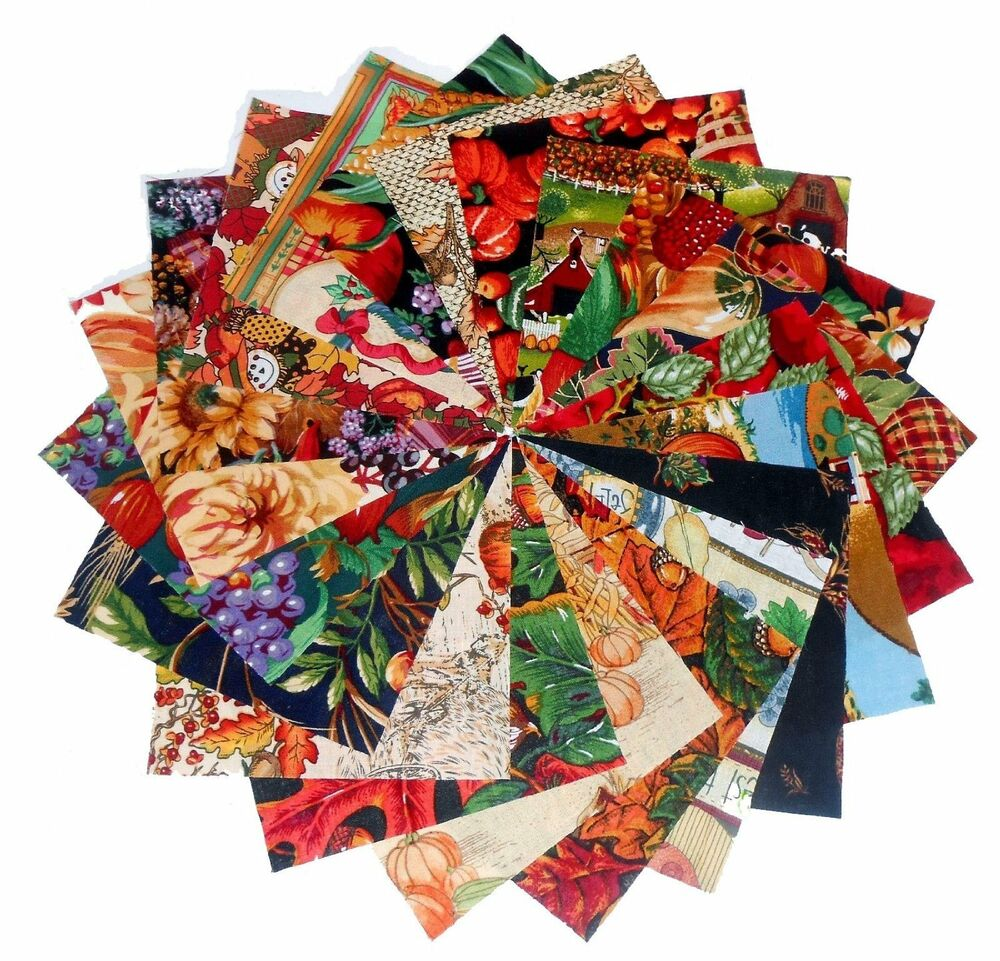 80 5 autumn harvest quilting fabric squares beautiful 2 for Fabric purchase