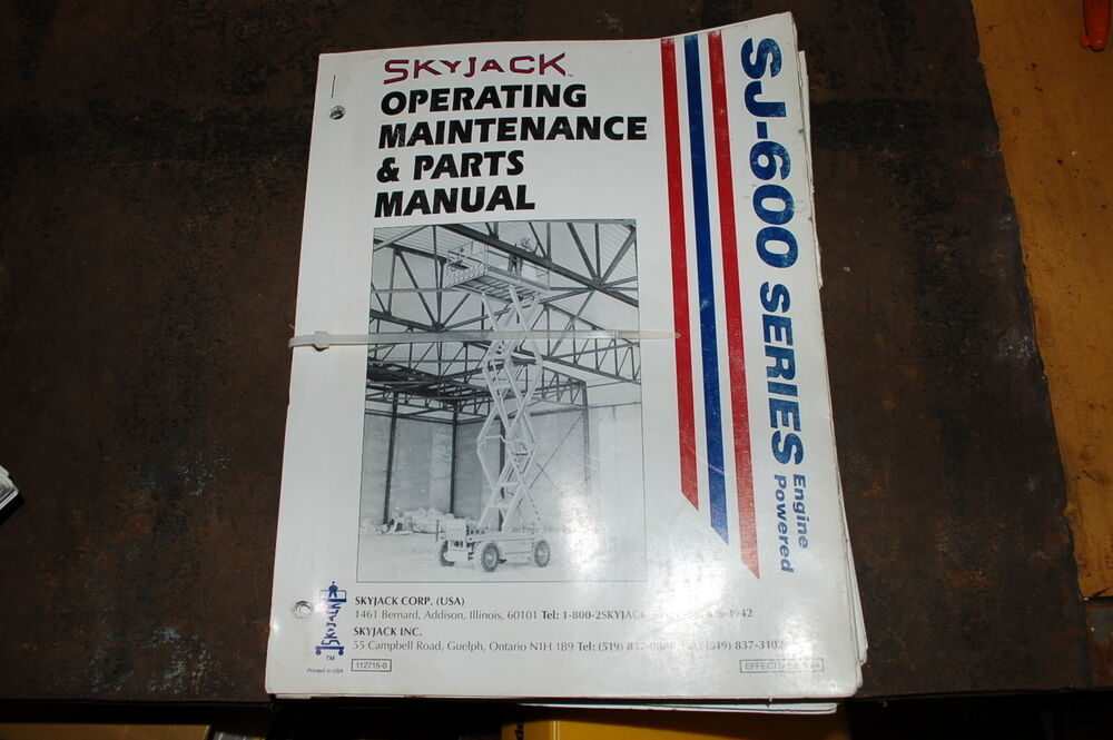 Skyjack 3220 operating Manual
