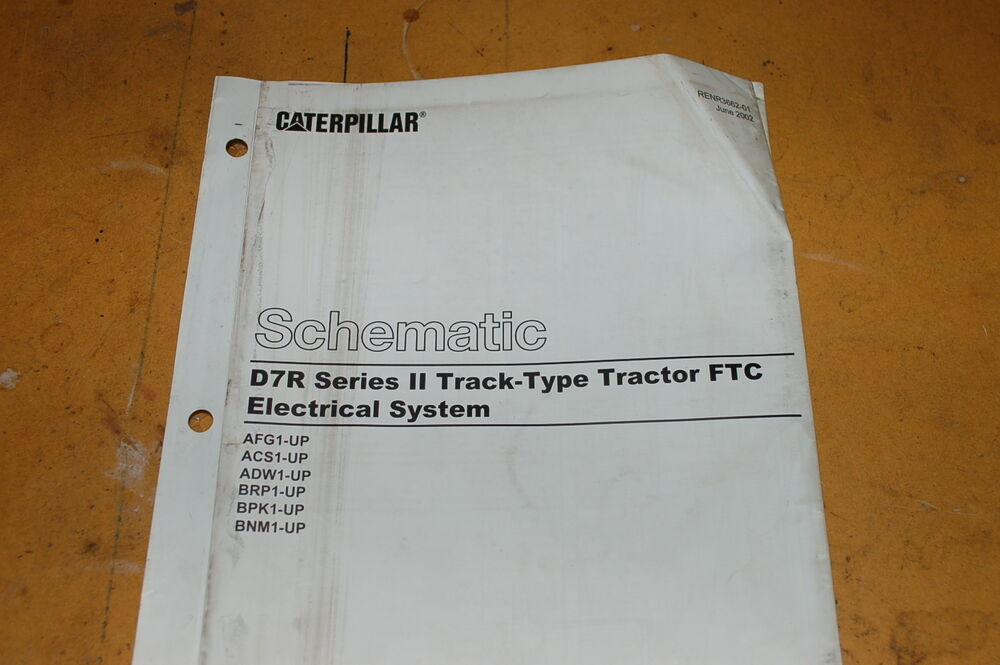 CATERPILLAR D7R    TRACTOR    CRAWLER DOZER ELECTRICAL Schematic