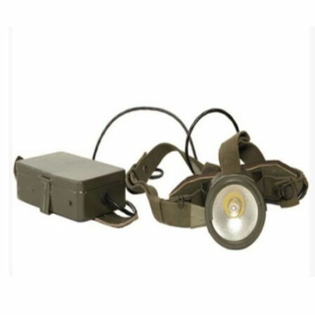 img-Swedish army surplus head torch and battery pack
