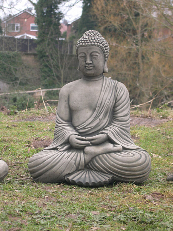 Thai buddha large garden ornament statue ebay for Large outdoor ornaments