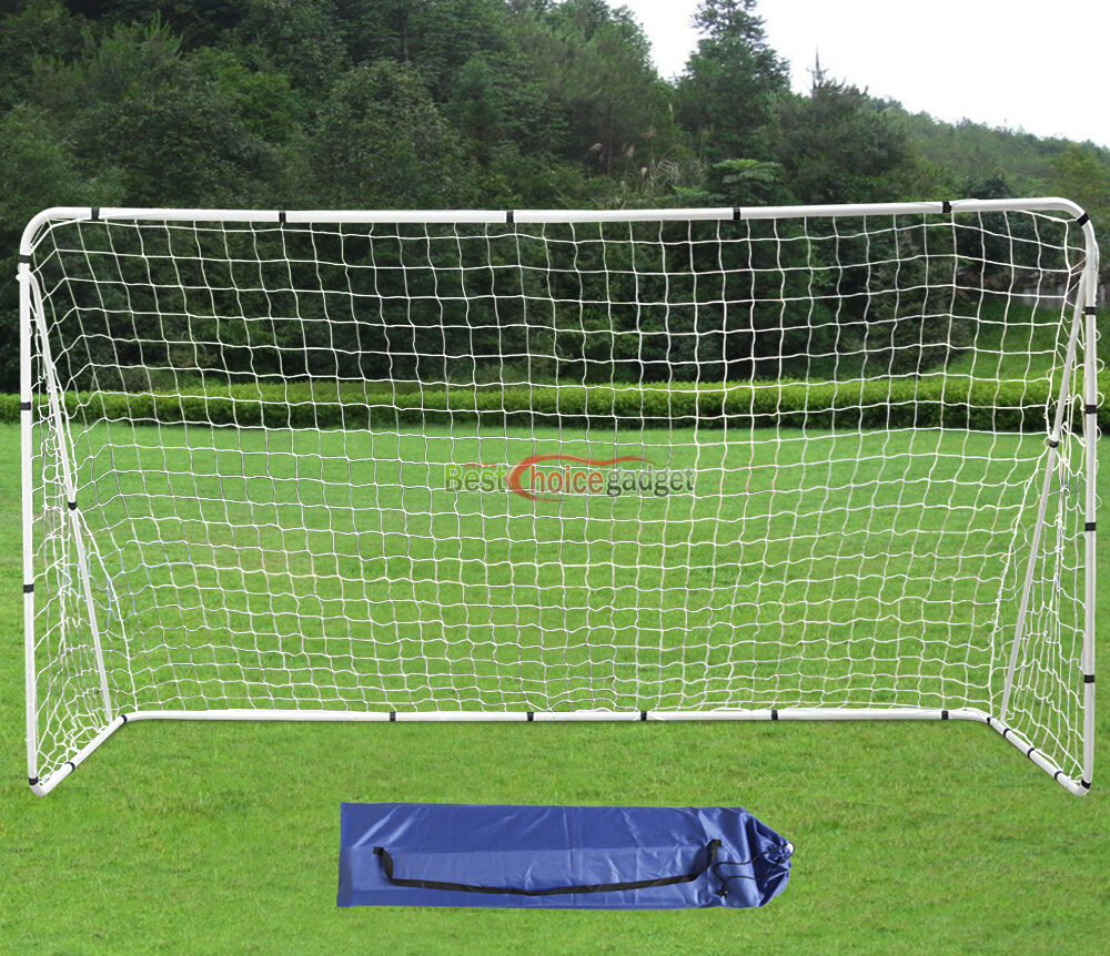 12' x 6' Large Soccer Goal With Net Strong Straps Anchor ...