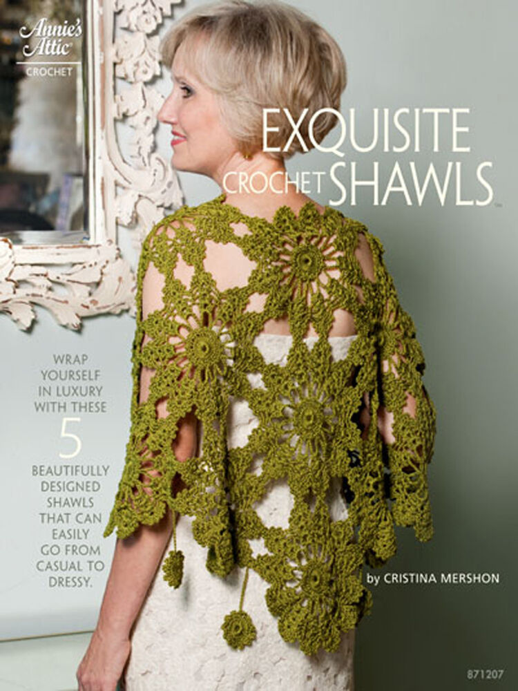 Annies Crochet Patterns : Annies Attic Exquisite! Crocheted Shawls Timeless Beauties Crochet ...