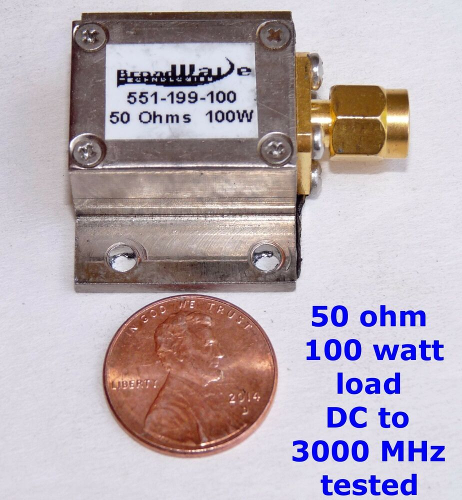 100 watt 50 ohm load sma very small dc to 3000 mhz. Black Bedroom Furniture Sets. Home Design Ideas