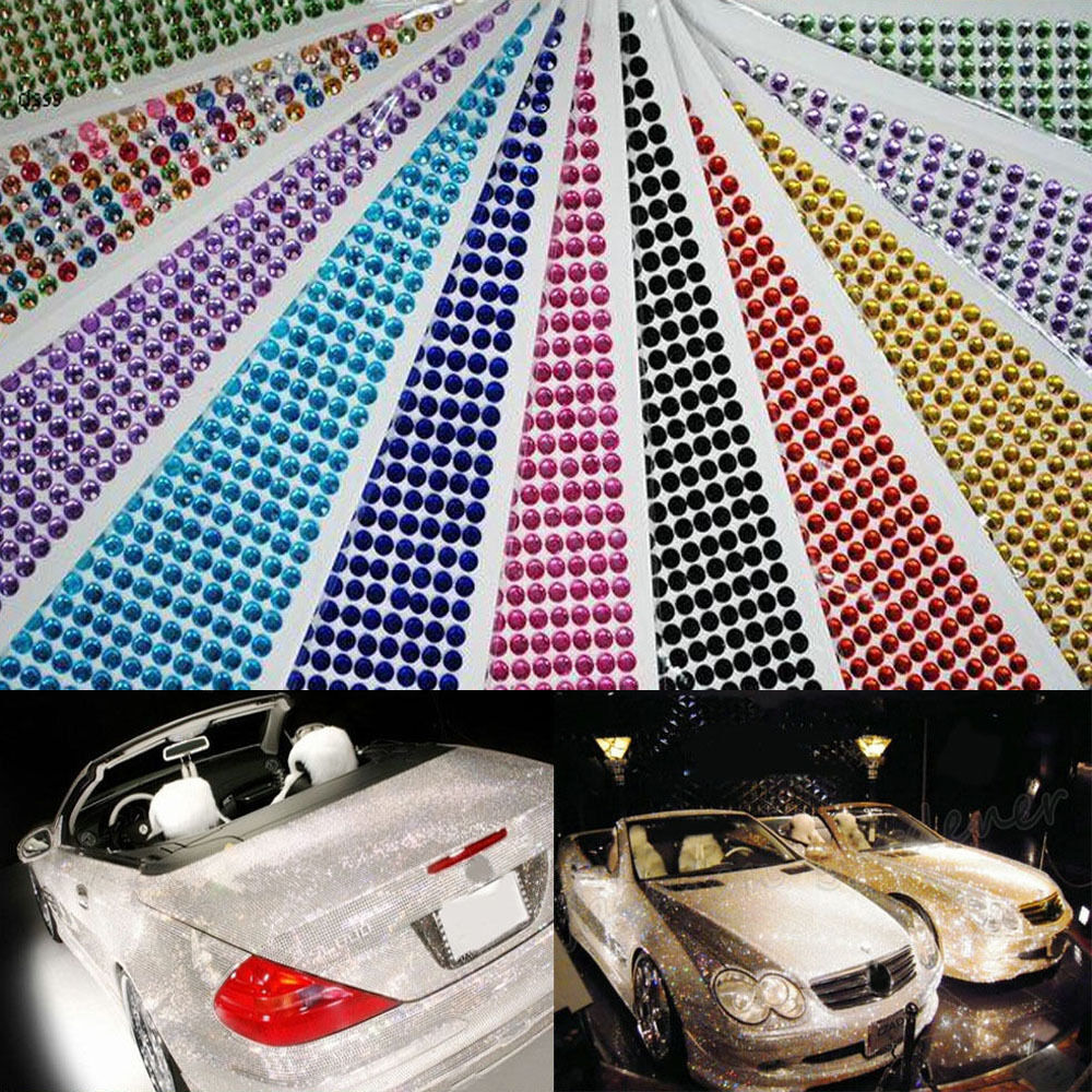 900pcs self adhesive rhinestone crystal bling stickers for Adhesive decoration