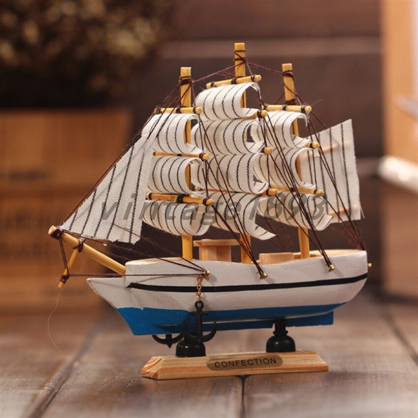 Details About New Tall Ship Detailed Wooden Boat Model Nautical Home Decor Collectible Toy