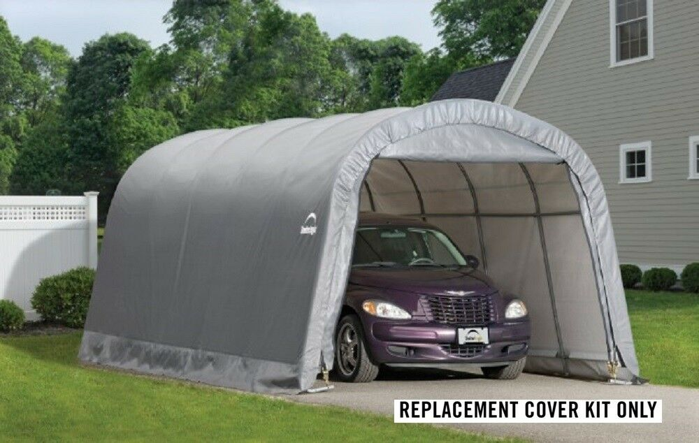 10x20 Portable Garage Replacement Cover : Shelterlogic replacement cover round garage in a box
