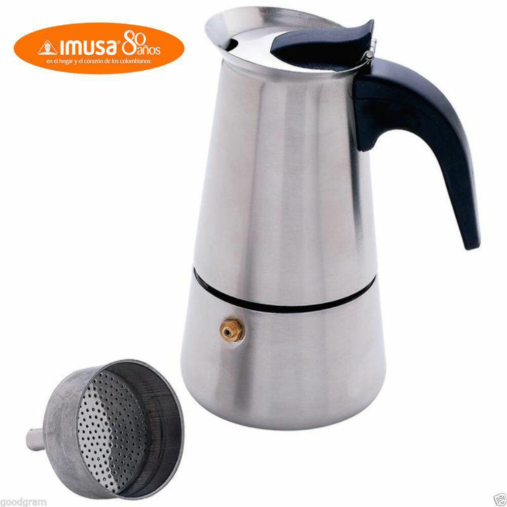 Imusa Stainless Steel Stove Top Espresso Coffee Maker