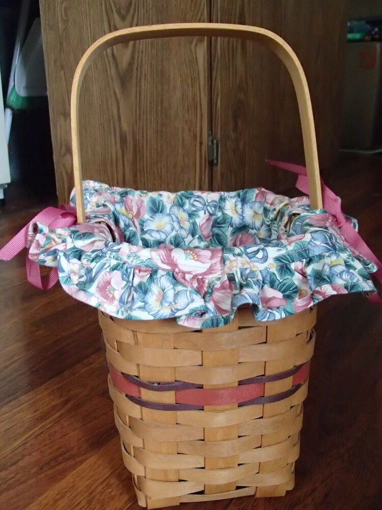 Longaberger 1994 Bee Basket W/1993 Mothers Day Liner, They
