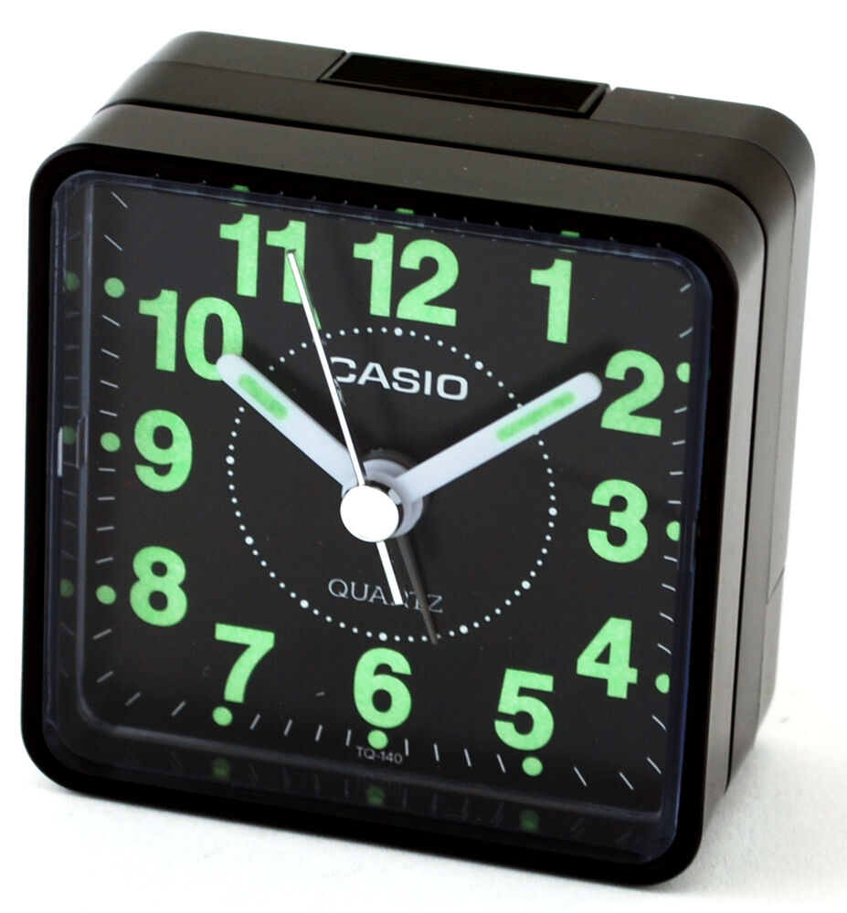 casio tq140 1d black dial easy reader table top travel. Black Bedroom Furniture Sets. Home Design Ideas
