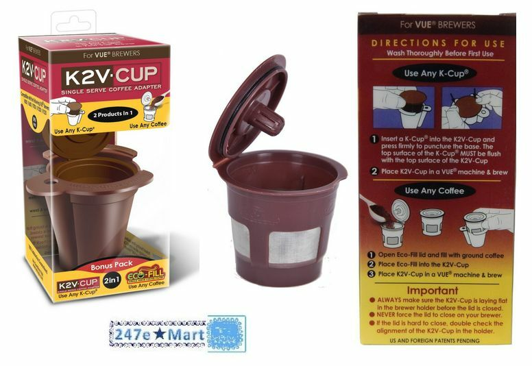 New K2v Cup For Keurig Vue Brewers Coffee Pods K Cups