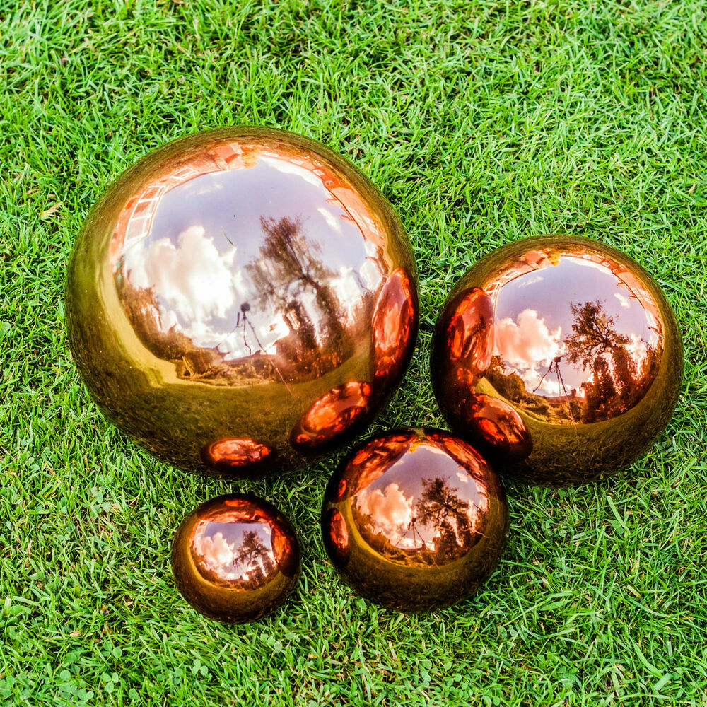 copper stainless steel gazing ball garden sphere ornaments