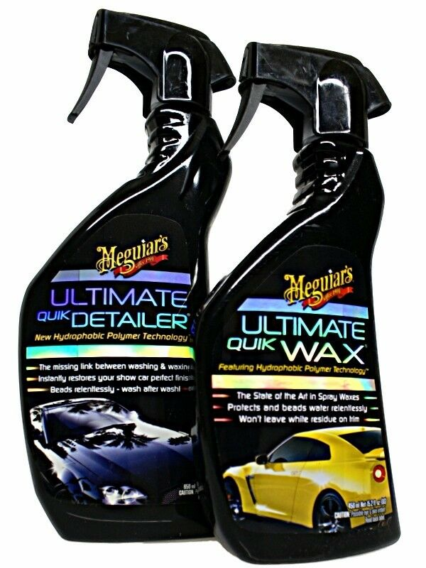meguiar s ultimate quik detailer quik wax im set ebay. Black Bedroom Furniture Sets. Home Design Ideas