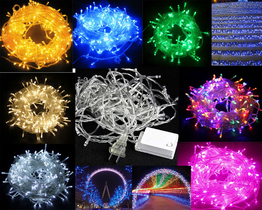 Battery Operated String Lights Ac Moore : Solar/AC/Battery Powered 50-200 LED Twinkle Fairy String Party Decor Light Xmas eBay