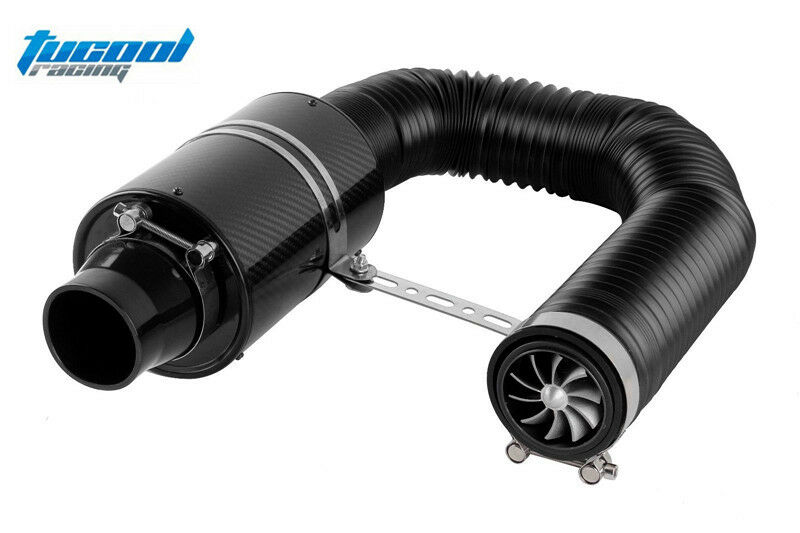 Fan Spacer Cold Air Intake : Universal cold feed induction kit carbon fibre air