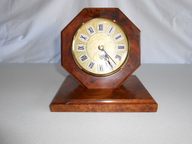 Vintage Kienzle Chronoquartz Mantle Table Clock Wood Made