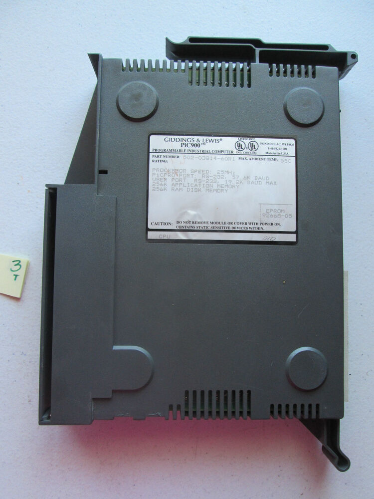 Amd Amplified Muscle Definition: GIDDINGS LEWIS PLC MODULE PIC900 502-03814-60R1 TURBO CPU