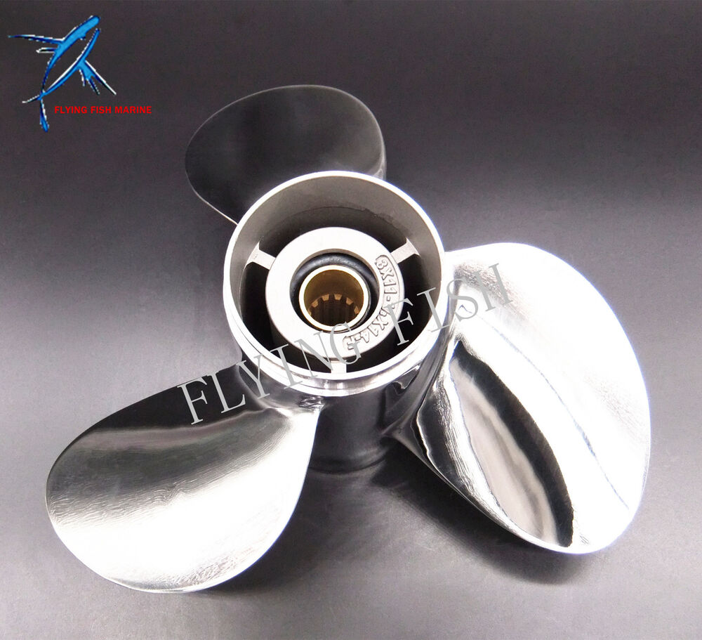 11 1 8x14 f stainless steel propeller for yamaha outboard for 11 1 8 x 13 g yamaha