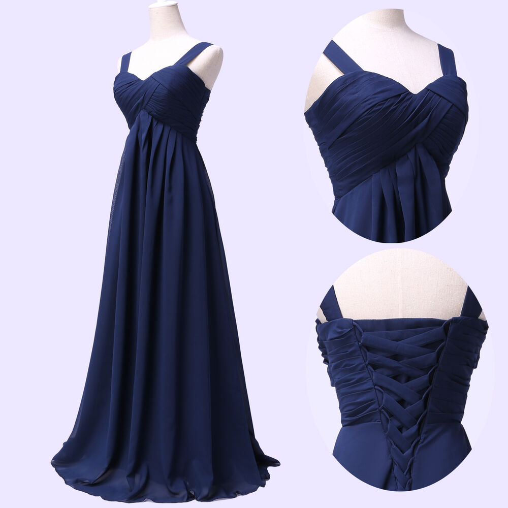 Cheap long straps formal evening bridesmaid homecoming for Cheap wedding dresses ebay