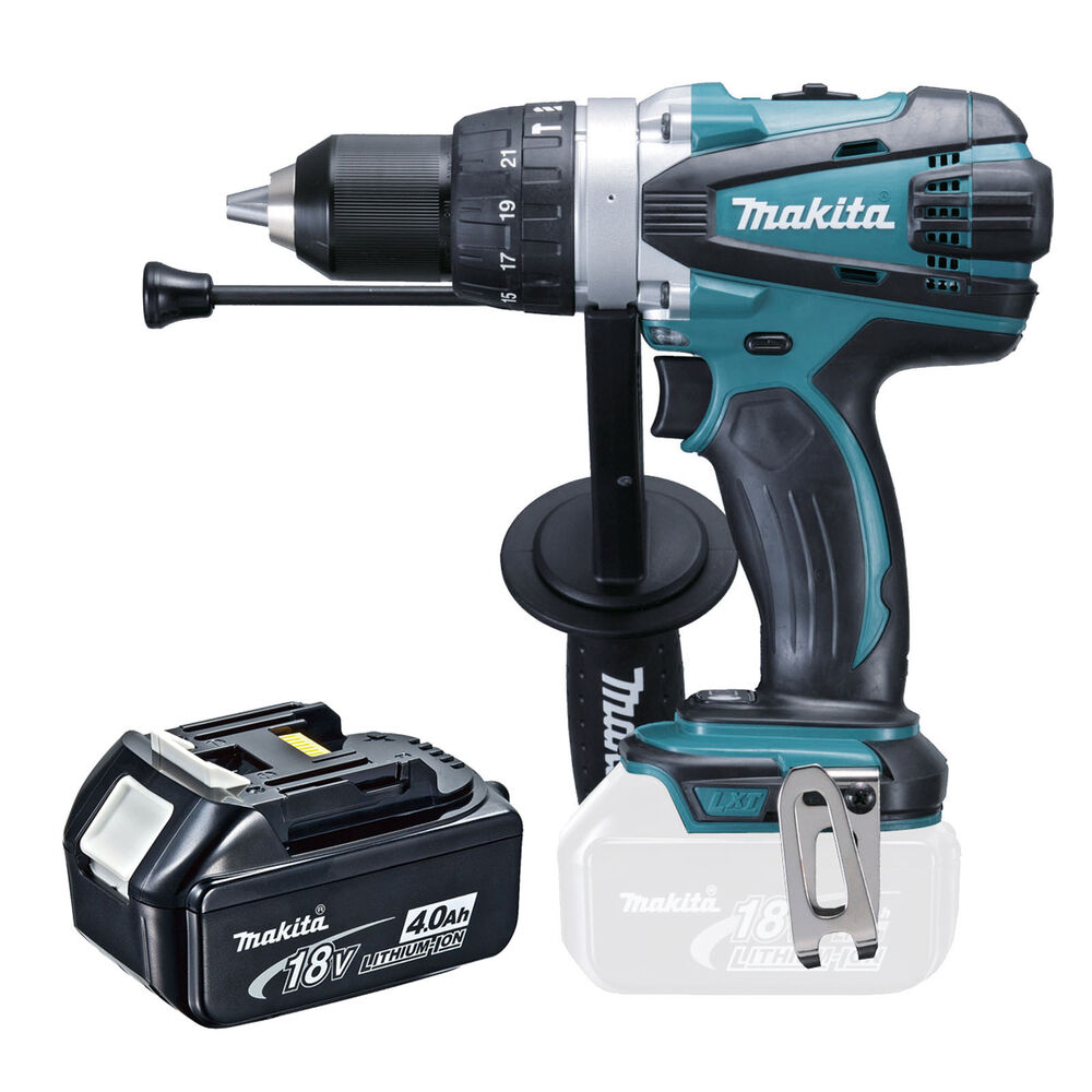 makita 18v lxt dhp458 dhp458z dhp458rfe combi drill and bl1840 battery ebay. Black Bedroom Furniture Sets. Home Design Ideas