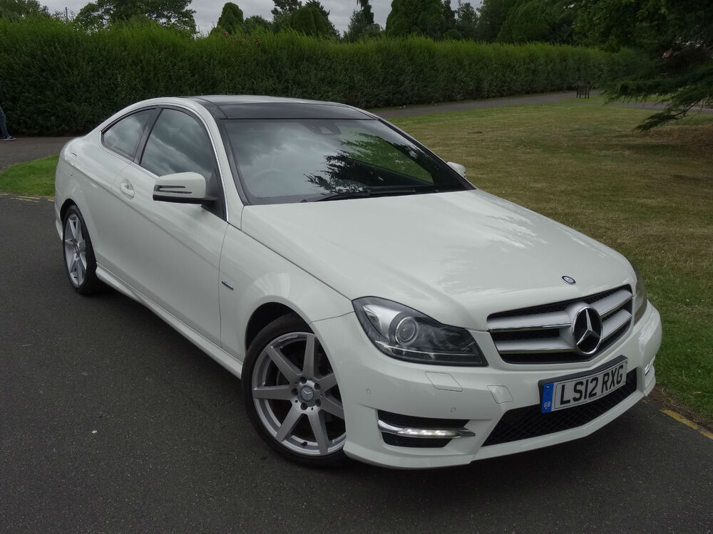 mercedes c class c220 cdi blueefficiency amg sport coupe 2012 12 ebay. Black Bedroom Furniture Sets. Home Design Ideas