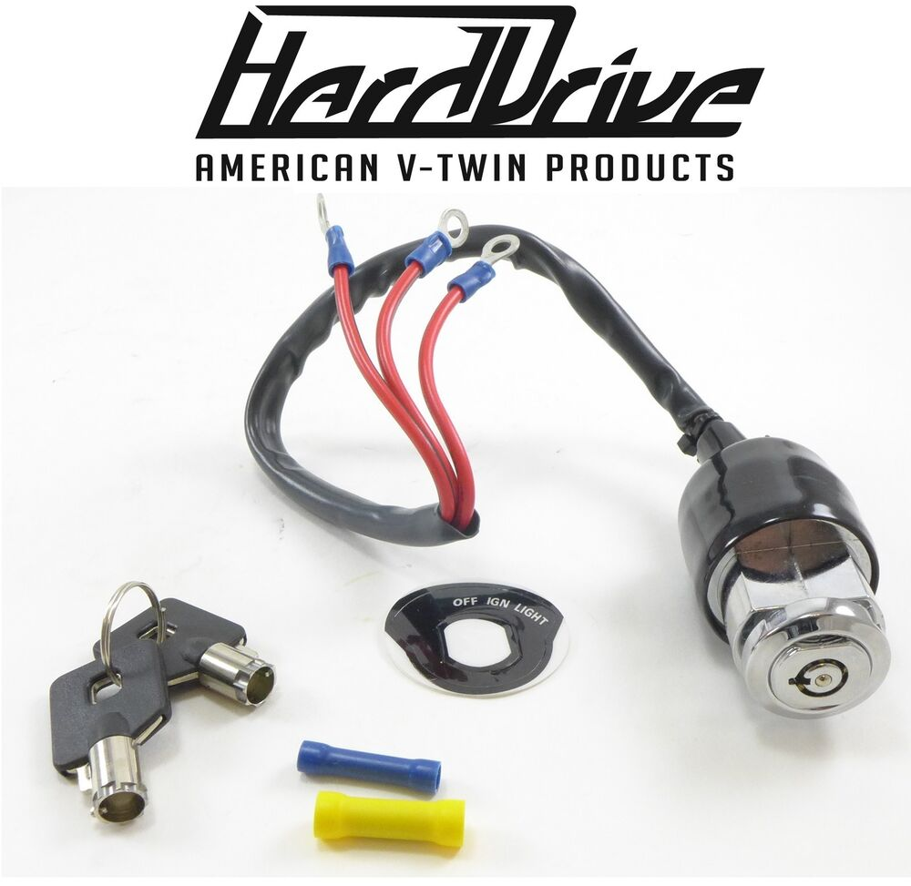 Hard Drive Motorcycle 3 Wire Position Ignition Switch Start Stop 100 Revtech Coil Wiring Diagram Harley Davidson Ebay