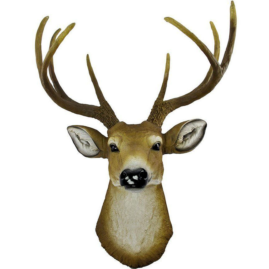 New Mini wall mounted black whitetail buck bust deer head ...