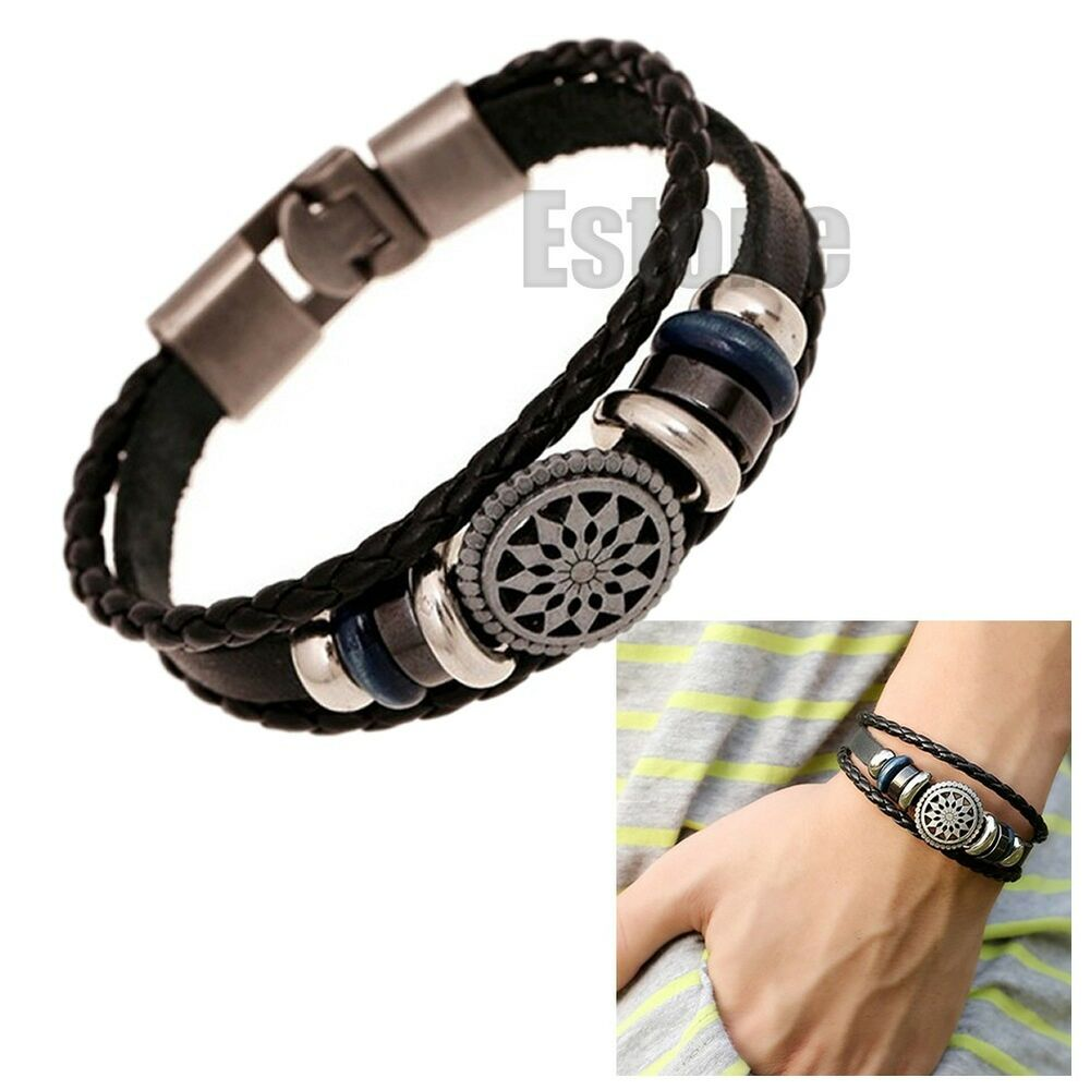 Leather Wrap Charm Bracelet: Fashion Leather Cute Infinity Charm Wrap Women Bracelet