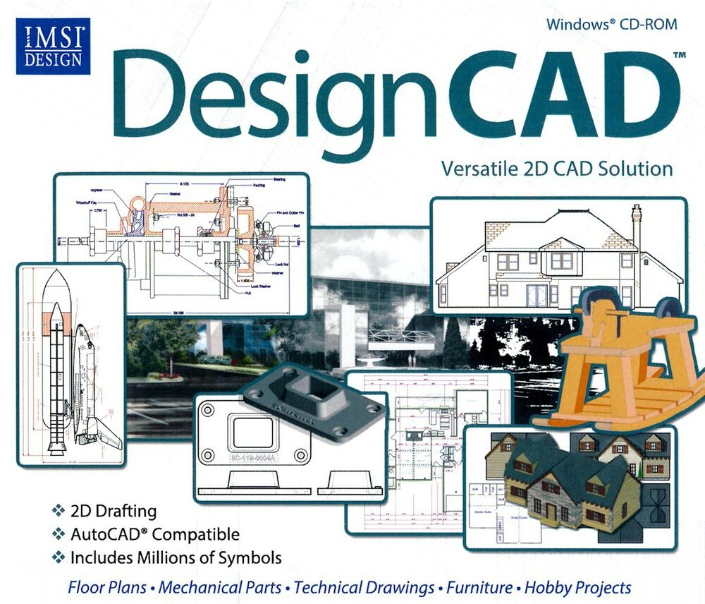 Designcad 22 imsi 2d cad solution software autocad pc xp for Online 2d drafting software