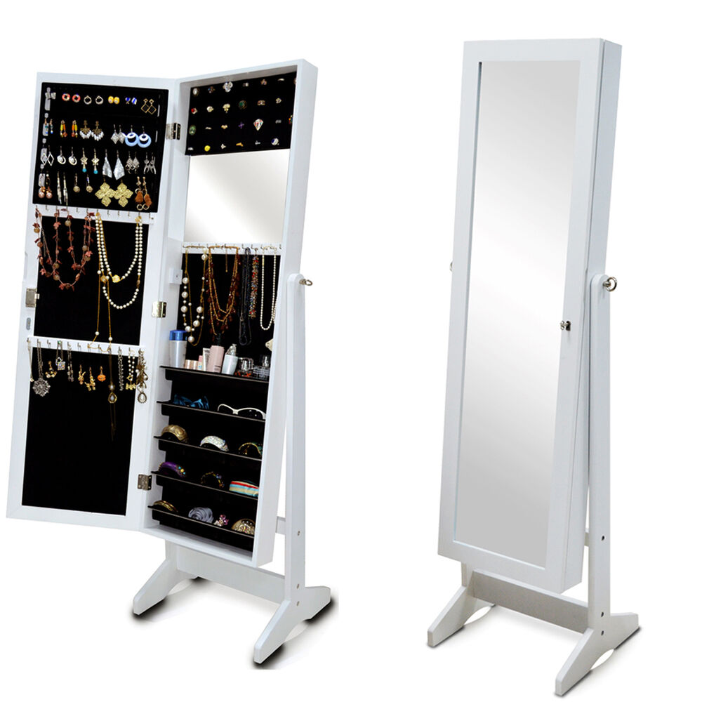 White mirrored jewelry cabinet armoire 28 images white for White mirrored cabinet