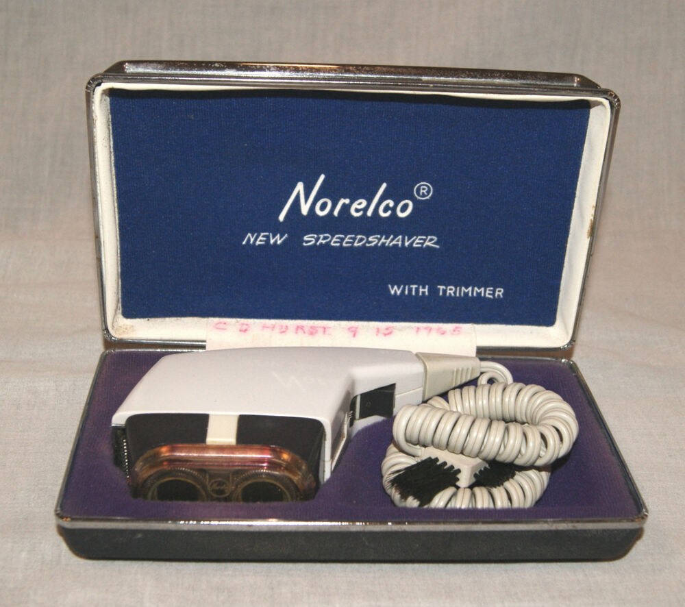 Vintage Norelco Speedshaver With Trimmer Electric Shaver