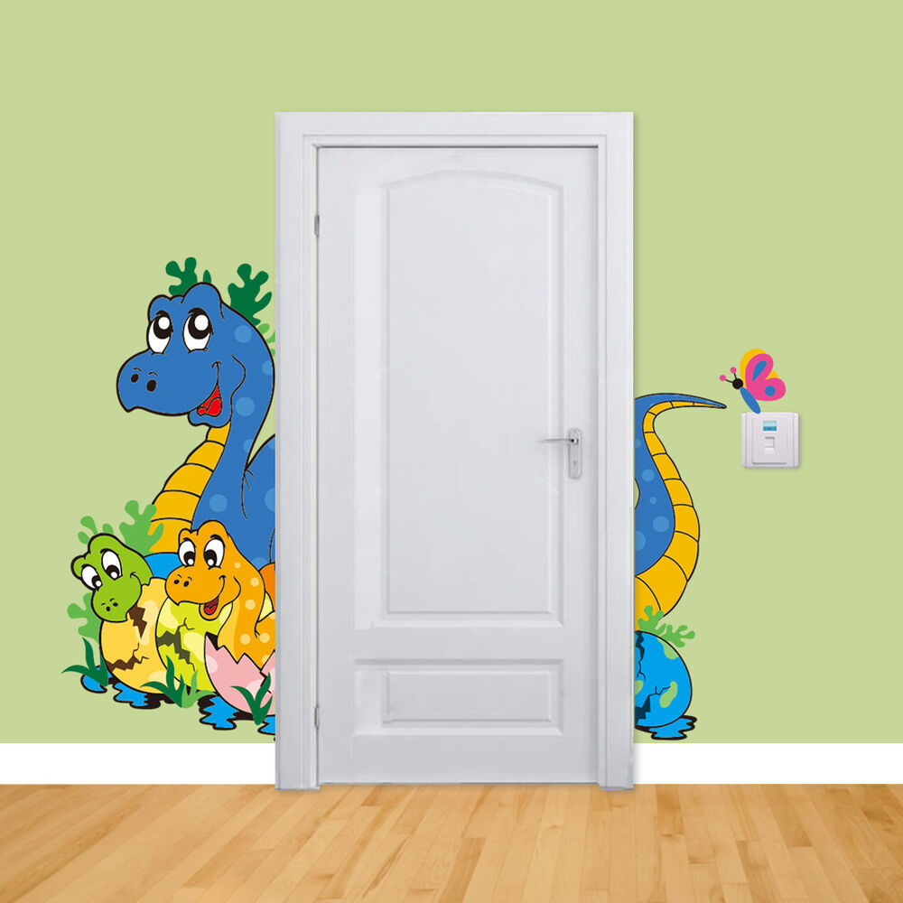 Diy kids bedroom dinosaur baby 3d wall sticker vinyl decal for Bedroom 3d wall stickers