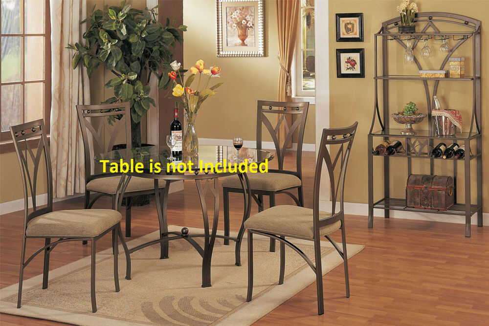 Simple Contemporary Metal Dining Chairs Upholstered Seat Framed Back Chair Se