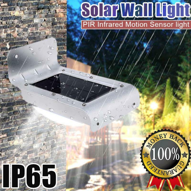 16 led solar powered pir motion sensor garden security. Black Bedroom Furniture Sets. Home Design Ideas