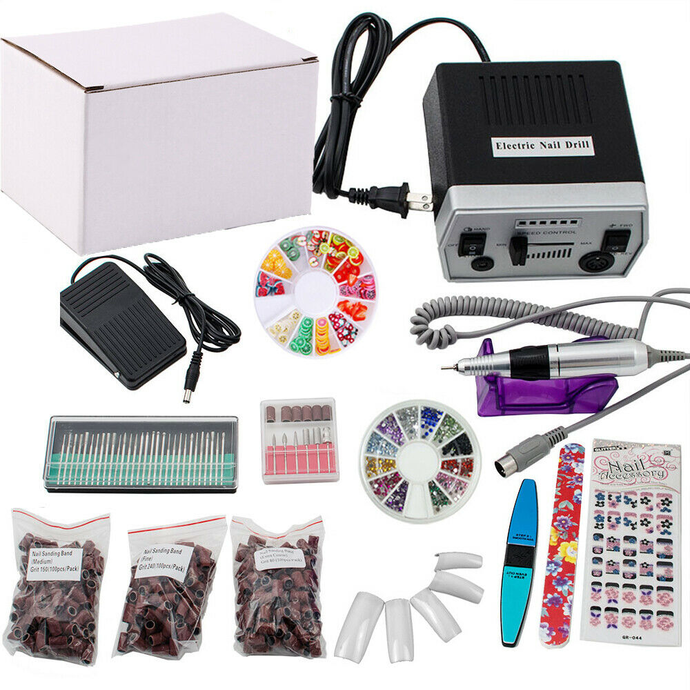 Acrylic Nail Kit Supplies: PROFESSIONAL ELECTRIC NAIL FILE Acrylic DRILL Manicure