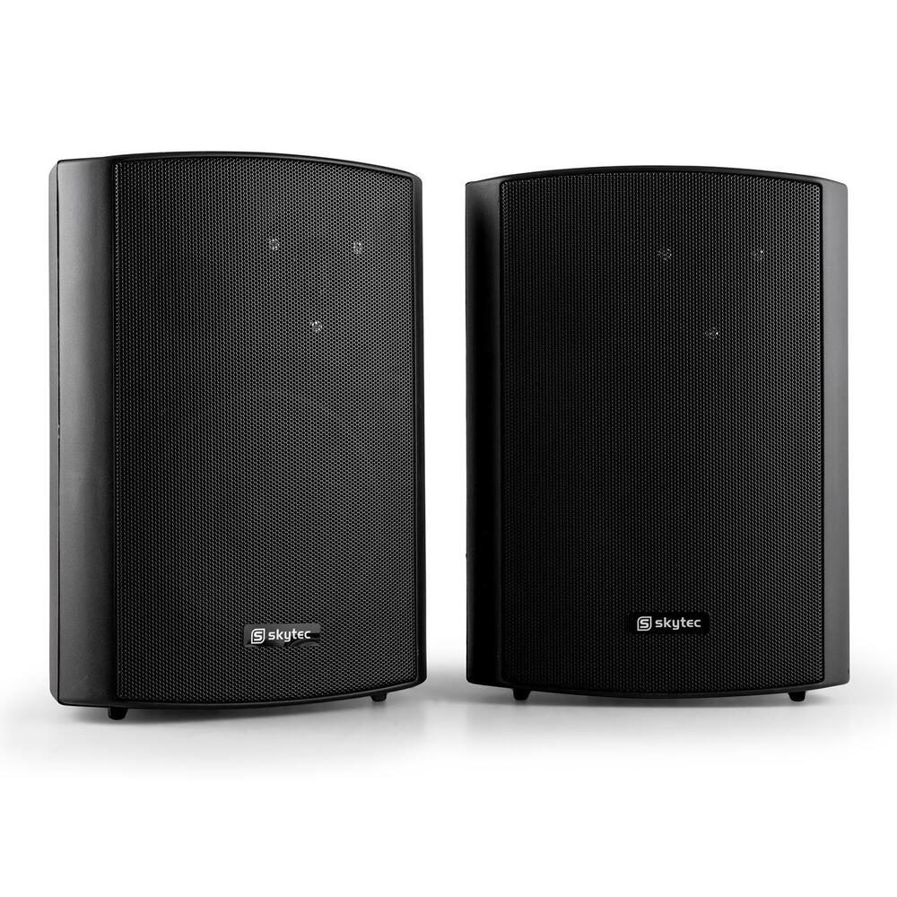 new passive speakers pair 120w wall mount brackets 2 way. Black Bedroom Furniture Sets. Home Design Ideas