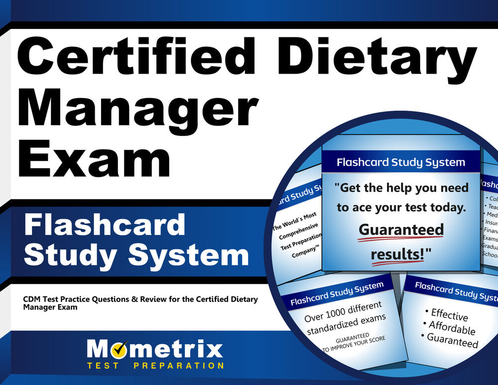Certified Dietary Manager Exam Flashcard Study System 9781609712945