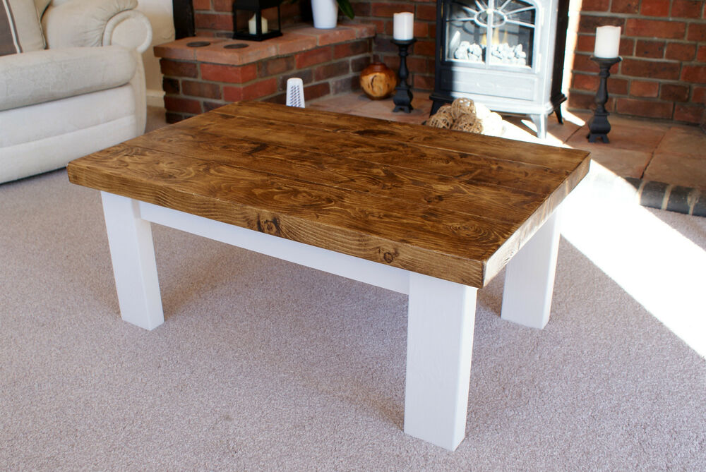 Cottage Style Coffee Tables Handmade Solid Wood Rustic Ebay