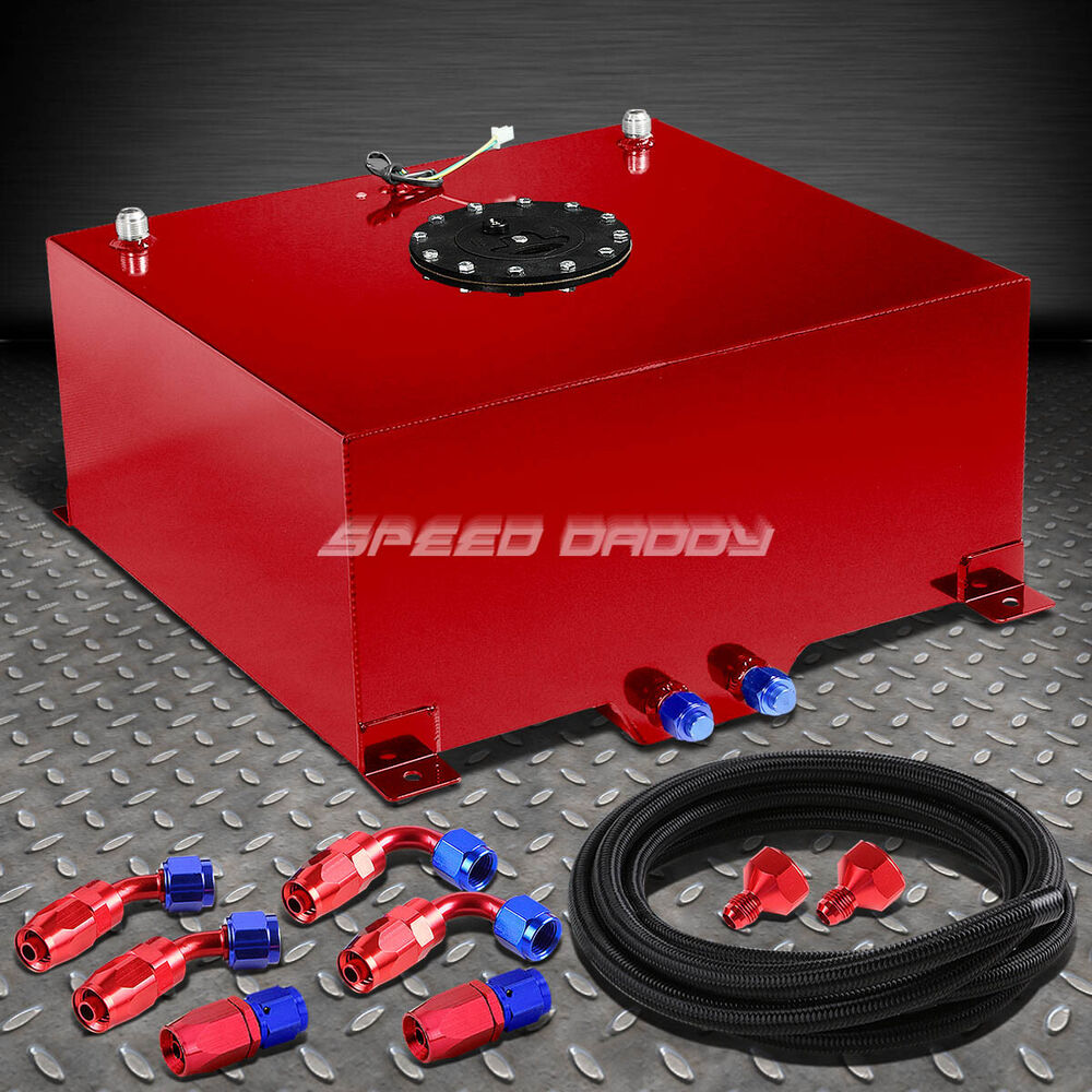 15 Gallon Red Aluminum Fuel Cell Gas Tank Cap Level Sender