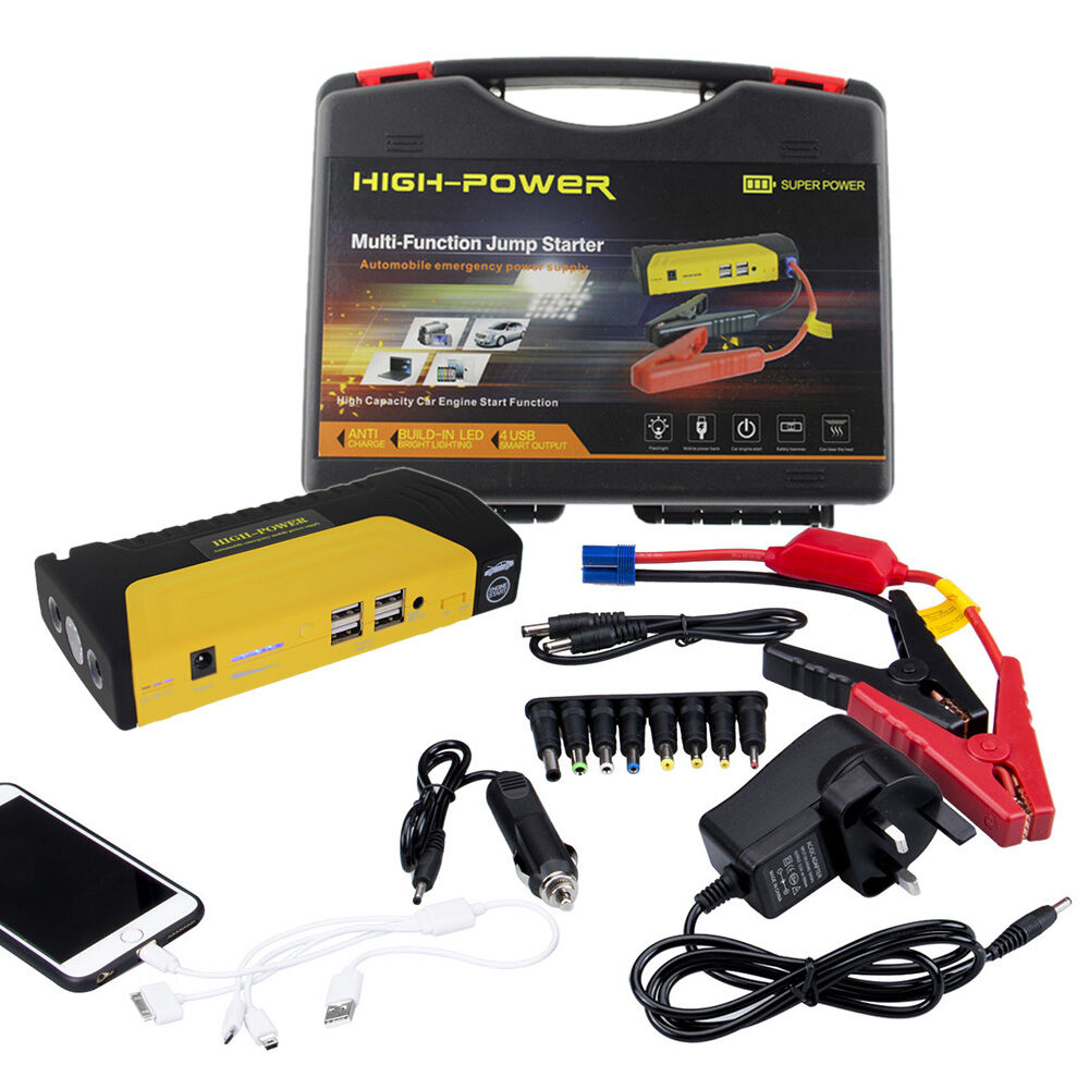 V Mah Multi Function Car Jump Starter Power Booster Battery Charger