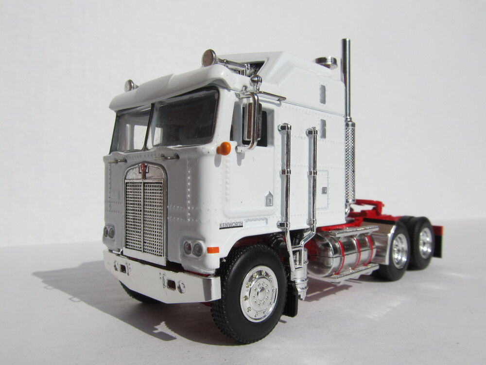 DCP 1/64 SCALE KENWORTH K100 AERODYNE CABOVER WHITE WITH RED FRAME ...