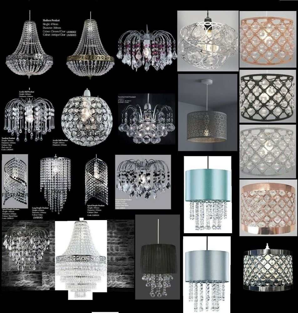 Chandelier Style Modern Ceiling Light Shade Droplet