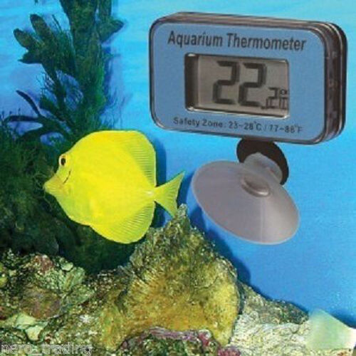 Aquarium fish tank thermometer free battery underwater for Koi pond temperature