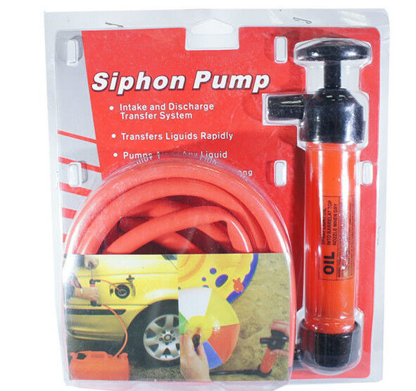 Petrol Syphon Siphon Pump Kit with 2 x 1.2m Transfer Tubes Drain Fish Tank | eBay