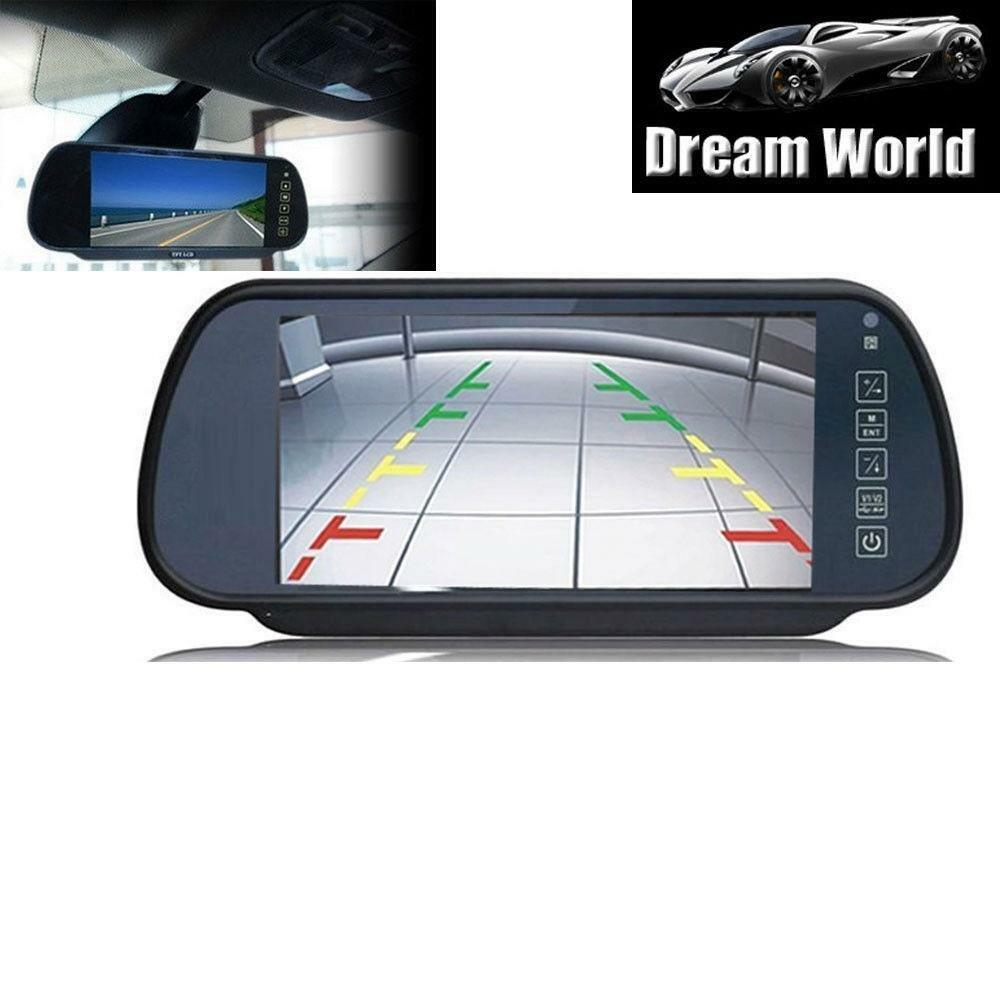 7 Inch Car Rearview Mirror Monitor Dvd Vcr Vcd For Backup