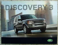 LAND ROVER DISCOVERY 3 Sales Brochure 2009 MODEL YEAR #2675/08 TDV6 MANUAL AUTO