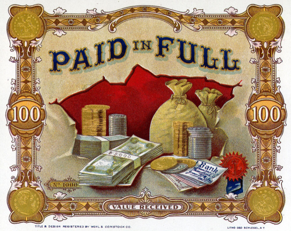 6064 Paid In Full Bills Coins Gold Money Bags Poster Decoration Graphic Ebay