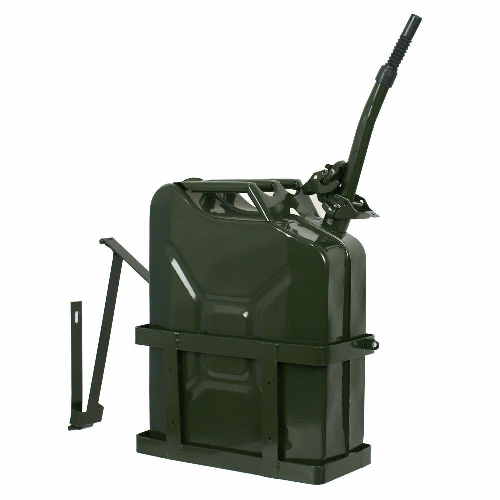 jerry can 20l 5 gallon steel tank fuel gas gasoline army. Black Bedroom Furniture Sets. Home Design Ideas