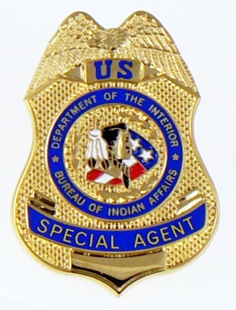 bureau of indian affairs special agent mini badge lapel pin ebay. Black Bedroom Furniture Sets. Home Design Ideas